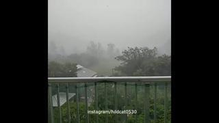 台風 , Typhoon Soulik in Amami , Japan, august 21, 2018 | Тайфун