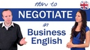 How to Negotiate in English Business English Lesson