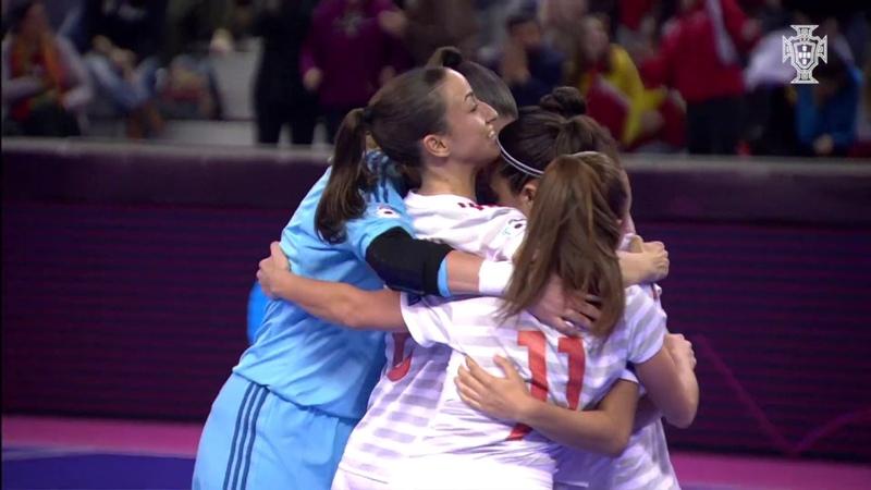 Europeu Futsal Fem. Espanha vence Rússia (5-0) e está na final