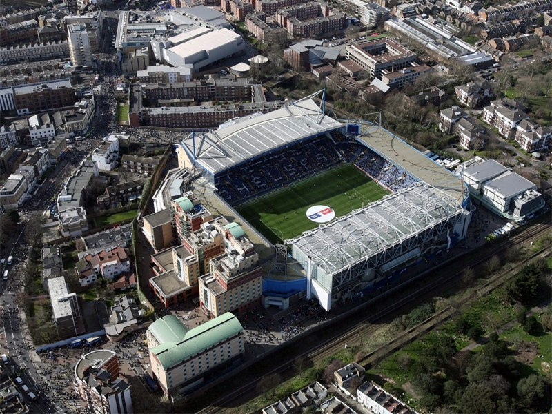 Стадион Стэмфорд Бридж (Stamford Bridge). Лондон, Англия.
