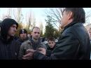 Болельщики МФК «Николаев» разговаривают с Олегом Федорчуком