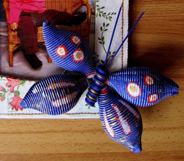 Бабочки из разных материалов своими руками 42