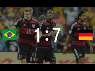 ИСТОРИЧЕСКИЙ МАТЧ! Германия - Бразилия 7:1 ВСЕ голы Полуфинала ЧМ 2014