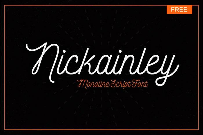 шрифт nickainley