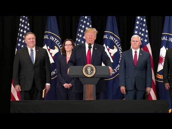President Trump Participates in the Swearing In Ceremony of the Director of the CIA