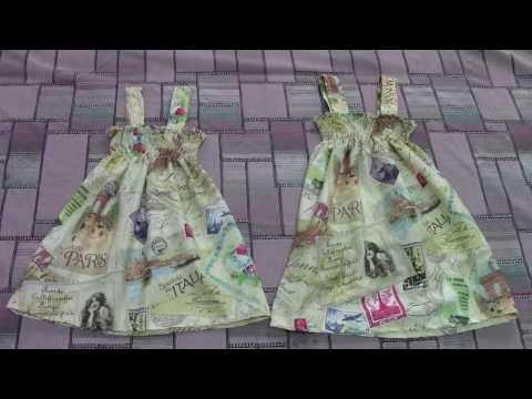 Простые летние сарафаны для девочек 3-х и 5-ти лет