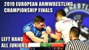 LEFT JUNIOR FINALS | EUROPEAN ARM WRESTLING CHAMPIONSHIP 2019