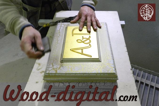 патинирование золотом деревянной шкатулки | столярная мастерская в Москве
