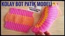 Kolay bot patik modeli / İki şiş ile bayan patik modelleri / Çeyizlik patik modelleri