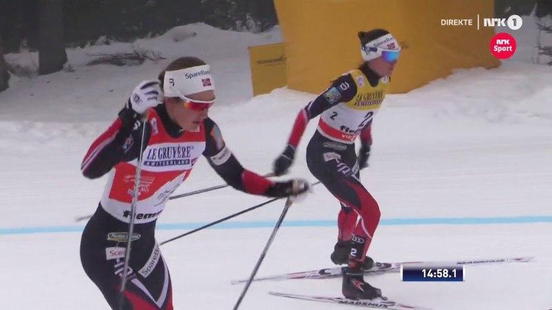 Heidi Weng wins Tour De Ski 2018 - Final Climb - Highlights - Val Di Fiemme