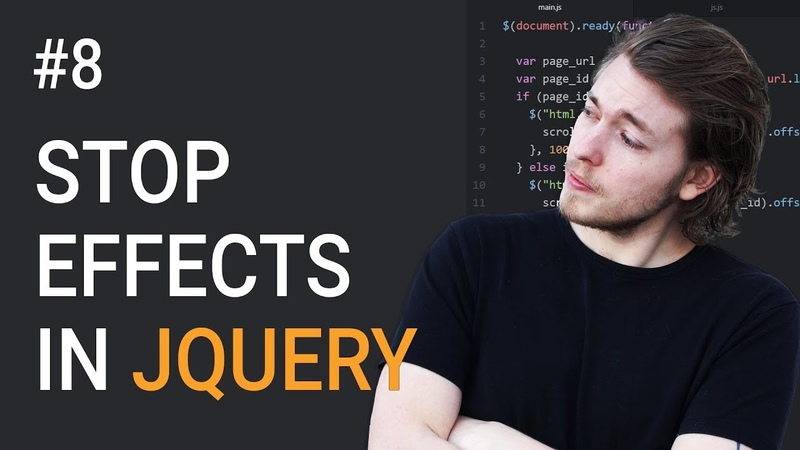 8: How to stop effects in jQuery - Learn jQuery front-end programming