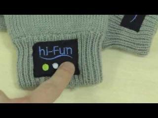 Перчатки со встроенной блютуз гарнитурой Hi-call Glove Handset