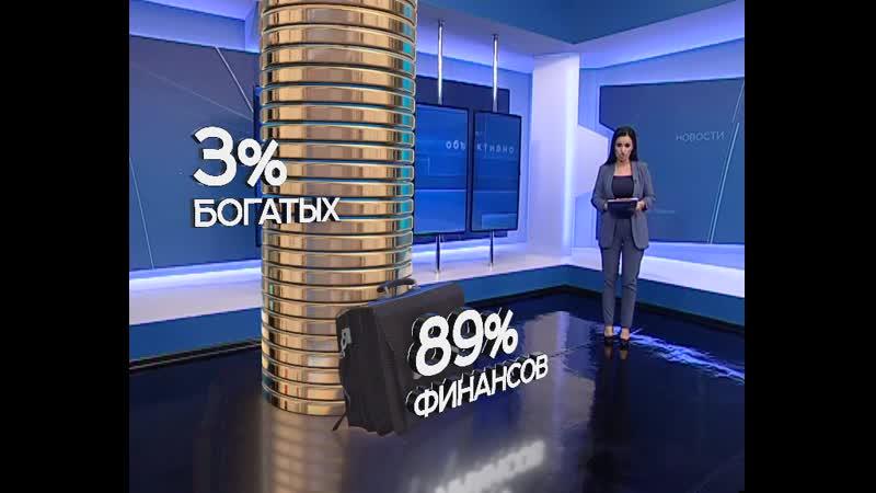 Неравенство в России 3% богатых россиян владеют почти всем в стране