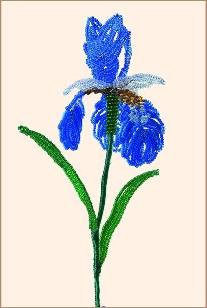 Схема плетения цветка из
