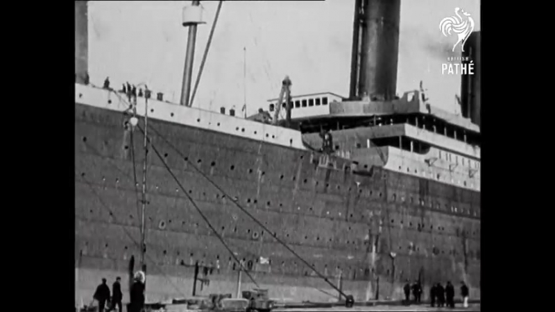Titanic Real Footage Leaving Belfast for Disaster (1911-1912) ¦ British Pathé