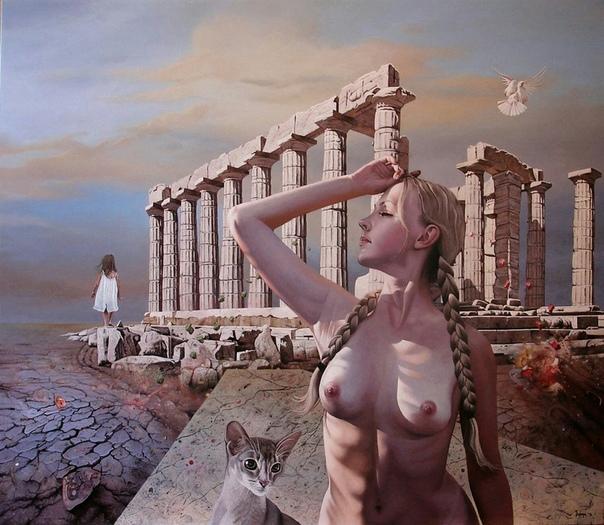 Воображаемый мир в картинах Ди Вого Dragan Ilic Di Vogo художник из Белграда, который создает картины на фэнтезийные тематики. Он наполняет свои картины образами, созданными его богатым