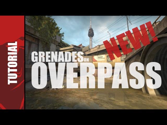 CS:GO - Updated Overpass grenade tutorial