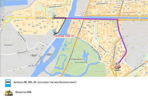 "Схема маршрута от метро """