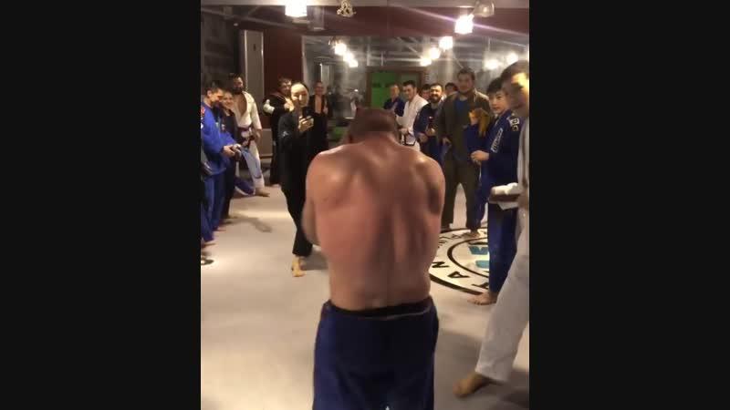 Артем Резников получил синий пояс!