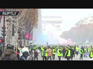В самый разгар протестов во Франции, в Париж приезжает Лавров и начинает раздавать печеньки,