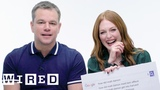 Matt Damon &amp Julianne Moore Answer the Web's Most Searched Questions WIRED