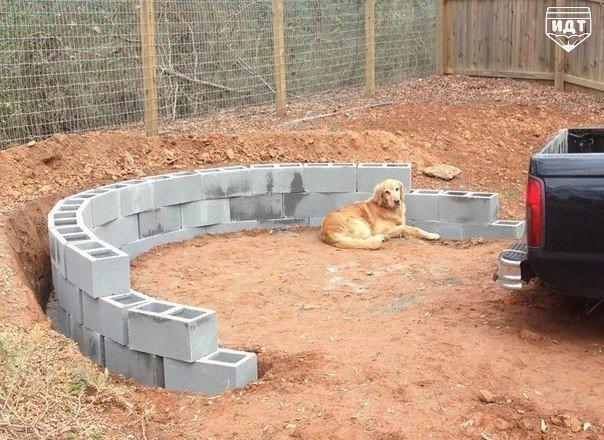 Как сделать площадку для костра своими руками....