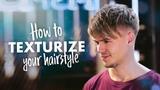 Men Textured Hair Tutorial Mens Hair Inspiration SlikhaarTV