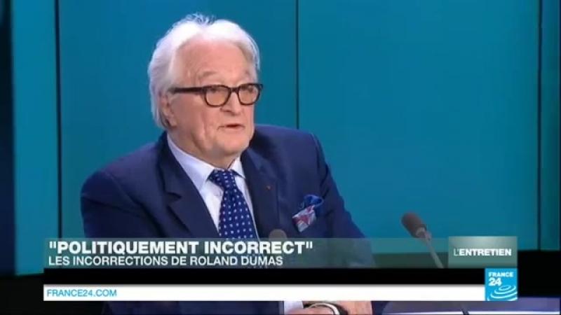 Roland Dumas, entretien Politiquement incorrect sur France 24 -