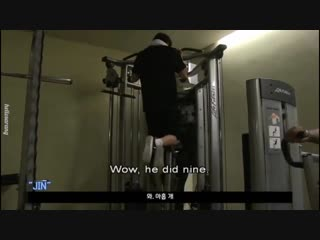 Watching jungkook work out always so hot - -