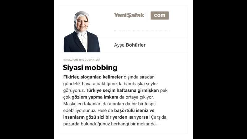Ayşe Böhürler - Siyasi mobbing - 15.06.2019