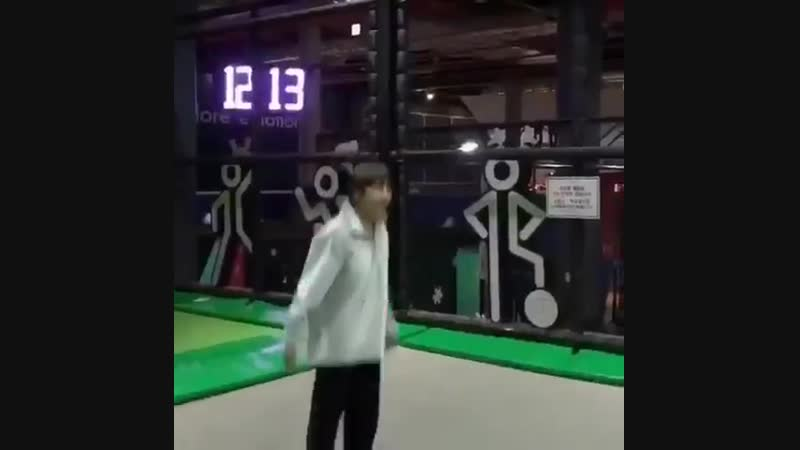 If you are sad, plese pls look at this vid of taehyung jumping with full of excitement, being the baby boy he is. his joy and pl