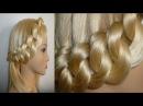 Лёгкая причёска с плетением для средних и длинных волос. Braid Hairstyles.Coiffures.Trenzas