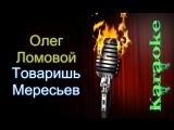 Олег Ломовой - Товаришь Мересьев ( караоке )