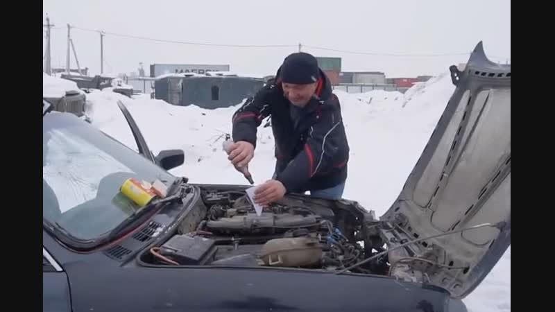 Сибиряк записал на видео, что будет, если в двигатель авто засыпать порох