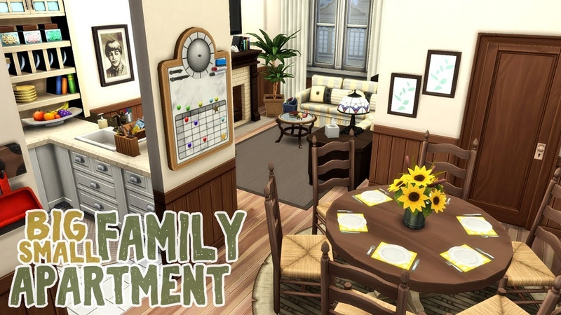 Big Family Small Apartment || The Sims 4 Apartment Renovation: Speed Build