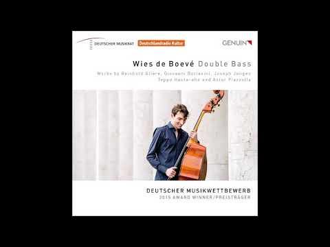 Reinhold Glière Pièces pour Contrebasse et Piano III Opus 9
