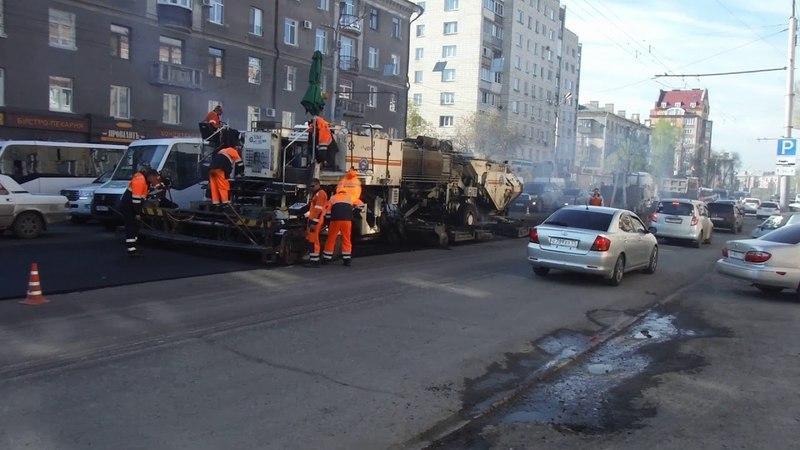 Асфальтирование проспект Маркса Омск