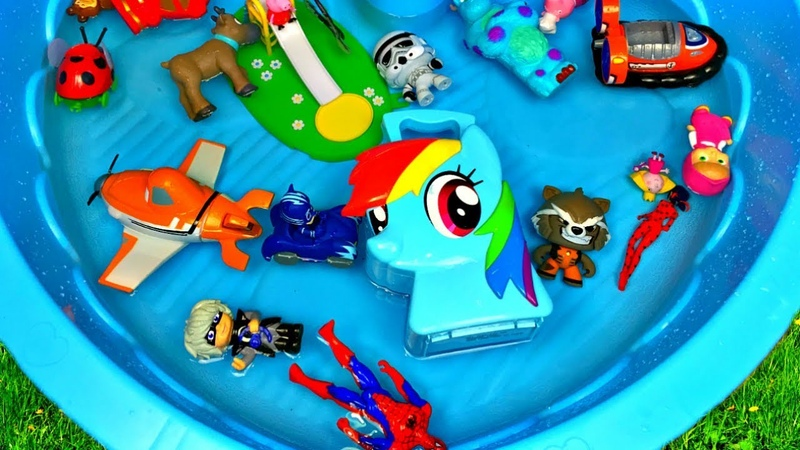 Learn Characters Toys in Box For Kids Peppa Pig PJ Masks Ben and Holly Spiderman Toys for Kids