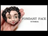 How to Make a Fondant Face Short Curly Hair Sugar Paste Face Tutorial