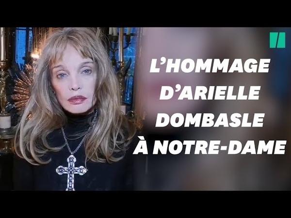 Arielle Dombasle rend hommage à Notre-Dame de Paris