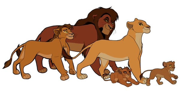 картинки король лев дети киары и кову