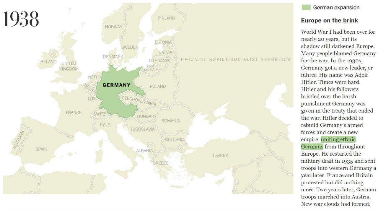 Карта Европы 1938