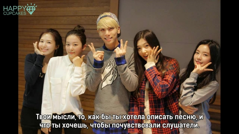 141024 Irene, Seulgi, Wendy, Joy (Red Velvet) Jonghyun's Blue Night (рус.саб)