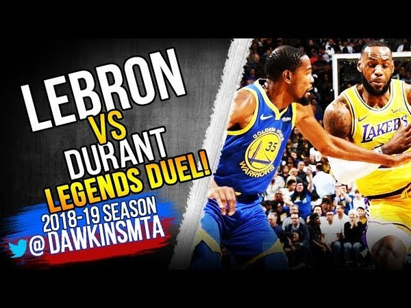 LeBron James vs Kevin Durant LEGENDS Duel 2018.10.10 - KD With 18, Bron With 15!