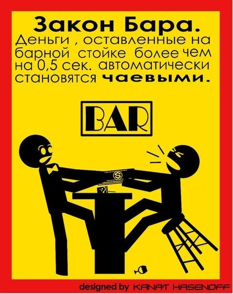 Смешная картинка бармен, открытка