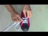 Как красиво завязывать шнурки на кедах и кроссовках )