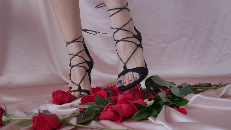 Trampling Bouquet of Roses in Stilettos from Unworthy Loser Miss Melissa