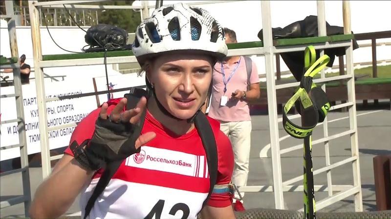 Женская индивидуальная гонка на чемпионате России. Тройка призёров