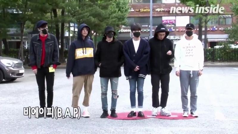 [NEWS] [22.09.17] B.A.P по дороге на Music Bank