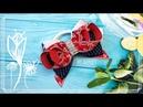 Морские бантики для девочек МК Канзаши Алена Хорошилова tutorial ribbon bow laço de fitas